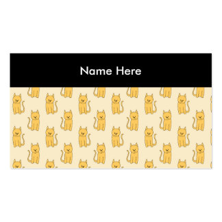 Ginger Cat Pattern. Double-Sided Standard Business Cards (Pack Of 100)