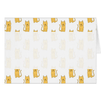 Ginger Cat Pattern. Card