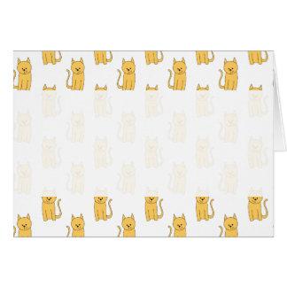 Ginger Cat Pattern. Greeting Card