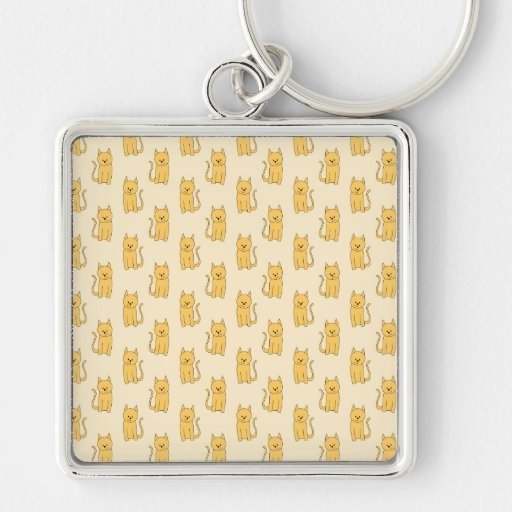 Ginger Cat Pattern. Keychains