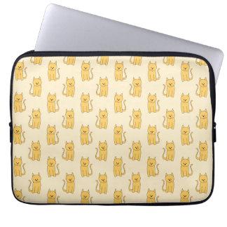 Ginger Cat Pattern. Laptop Sleeves