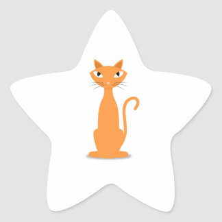 Ginger Cat Star Sticker