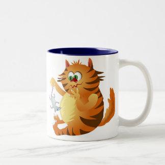 Ginger Cat Two-Tone Coffee Mug