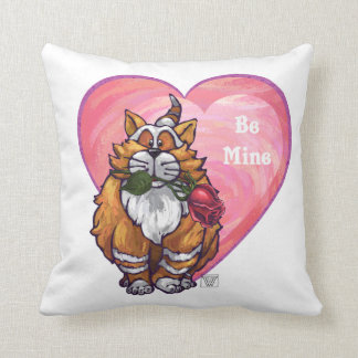 Ginger Cat Valentine's Day Throw Pillow