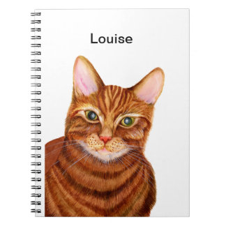 Ginger Cat Watercolour Artwork Painting Notebook