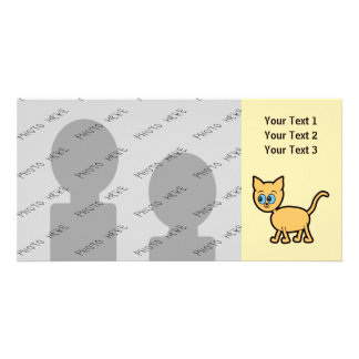 Ginger Cat with Blue Eyes. Photo Card