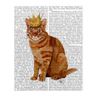 Ginger Cat with Crown Full Acrylic Wall Art