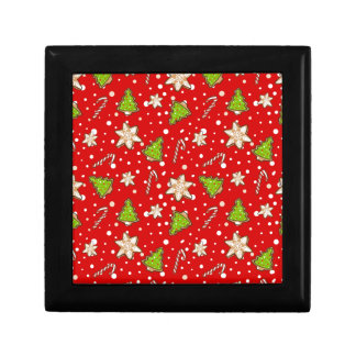 Ginger cookies Christmas pattern Gift Box