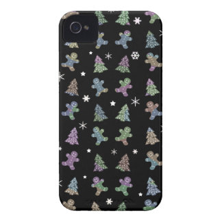 Ginger cookies Christmas pattern iPhone 4 Case-Mate Cases