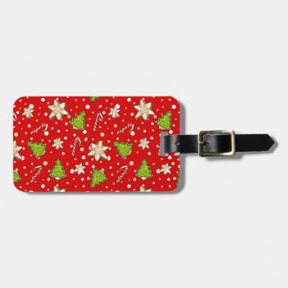 Ginger cookies Christmas pattern Luggage Tag