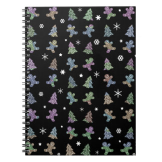 Ginger cookies Christmas pattern Spiral Notebook