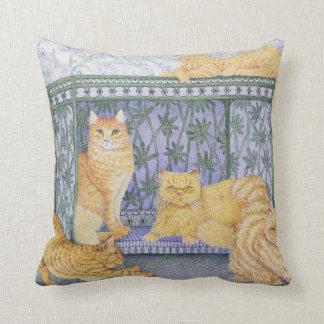 Ginger gentlemen throw pillow