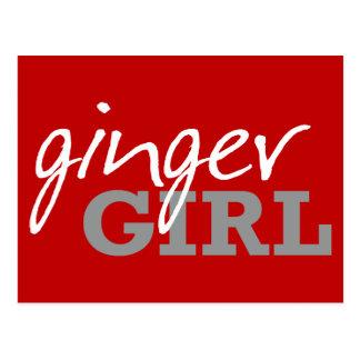 Ginger Girl Redhead Freckles Postcard