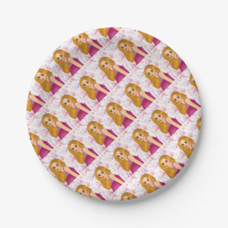 Ginger hair 7 inch paper plate