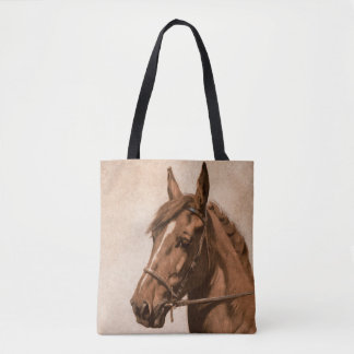 Ginger horse painting - Anna Sewell's Black Beauty Tote Bag