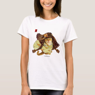 Ginger in Yellow with Flowers T-shirt