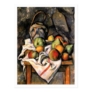 Ginger Jar and Fruit by Paul Cezanne Postcard