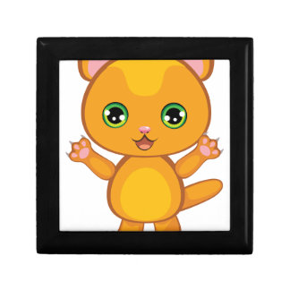Ginger Kitten Cartoon2 Gift Box