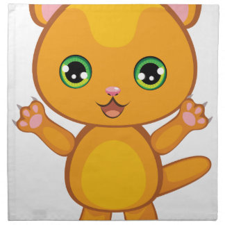Ginger Kitten Cartoon2 Napkin