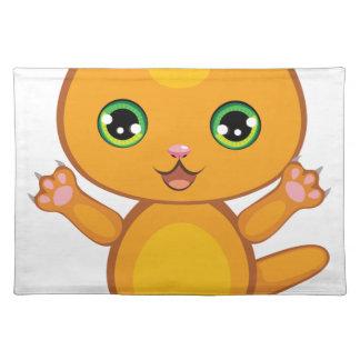 Ginger Kitten Cartoon2 Placemat