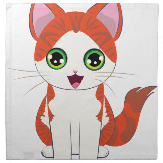 Ginger Kitten Cartoon Napkin