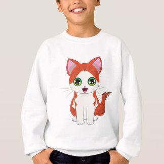 Ginger Kitten Cartoon Sweatshirt