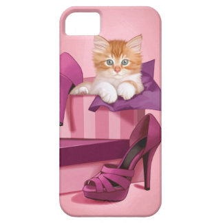 Ginger kitten in shoe box iPhone 5 covers