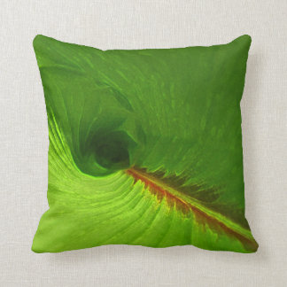 Ginger Leaf Abstract Accent Pillow