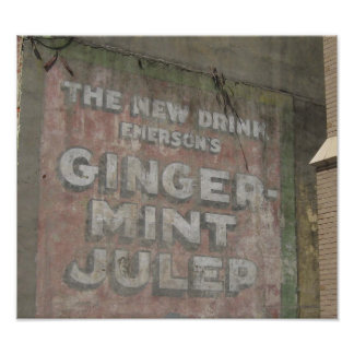 Ginger-Mint Julep Sign