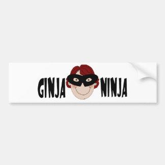Ginger Ninja Car Bumper Sticker