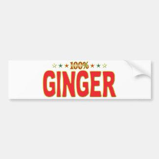 Ginger Star Tag Bumper Sticker