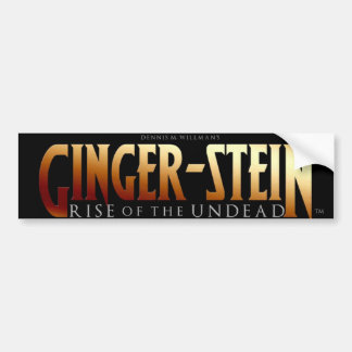 Ginger-Stein Bumper Sticker!! Bumper Sticker