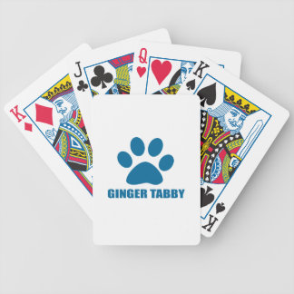 GINGER TABBY CAT DESIGNS BICYCLE PLAYING CARDS