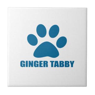 GINGER TABBY CAT DESIGNS CERAMIC TILE