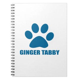 GINGER TABBY CAT DESIGNS NOTEBOOK