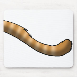Ginger Tabby Cat Tail Mouse Pad