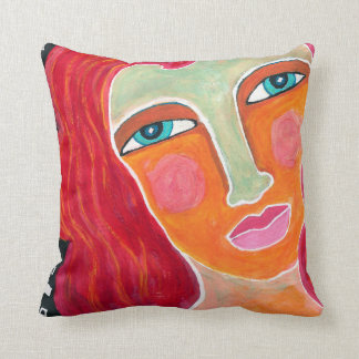 Ginger Throw Pillow-Abstract Art Cushion