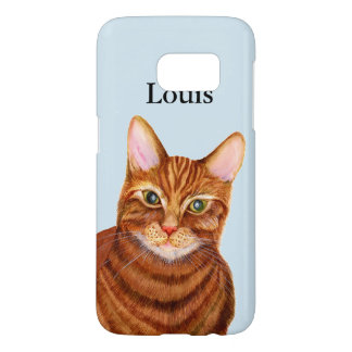 Ginger Tom Cat Watercolor Artwork Phone Cover