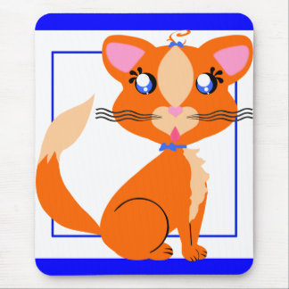 Ginger Toon Kitty Mousepad