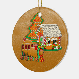 Ginger Town Ceramic Ornament