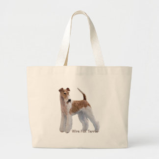 Ginger Wire Fox Terrier Large Tote Bag