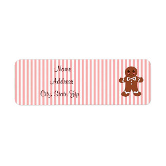 Gingerbread Address Labels