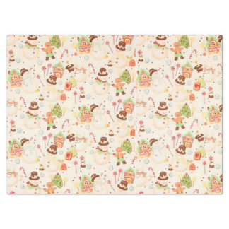 Gingerbread and Snowmen Tissue Paper