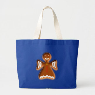 Gingerbread angel going hereditary READ fishing ro Large Tote Bag