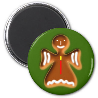 Gingerbread angel going hereditary READ fishing ro 6 Cm Round Magnet