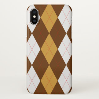 Gingerbread Argyle iPhone X Case