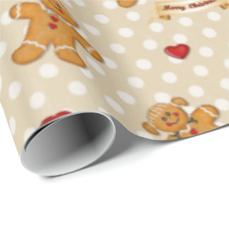 Gingerbread Boy and Girl 2 Gift Wrap Paper