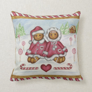 Gingerbread Boy and Girl Pillow