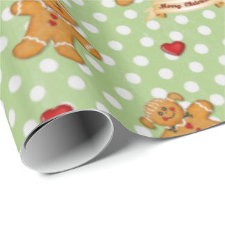 Gingerbread Boy and Girl Gift Wrapping Paper