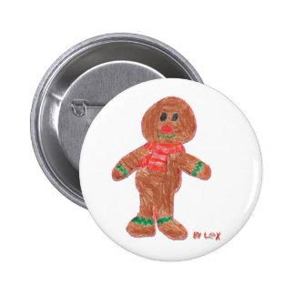 Gingerbread Boy Buttons